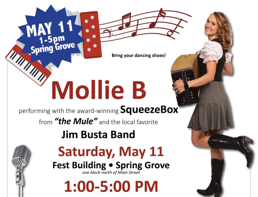 Mollie B of the Mule with Clint Eastwood to perform in Spring Grove Minnesota at Fest Building.
